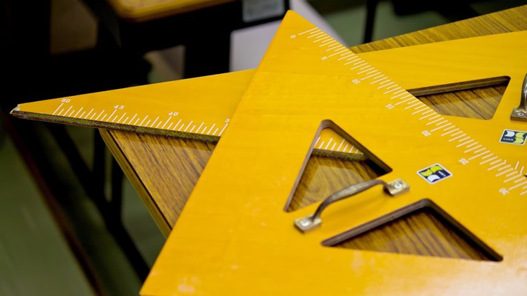 星のように重なる三角定規