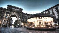 噴水のある広場