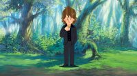 森の中の青年